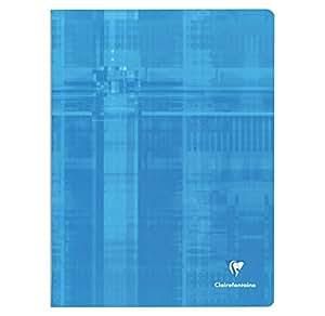Clairefontaine 63341 Metric - Libreta (cuadros grandes, 24 x 32 cm, 192 páginas, encuadernación con grapas), varios colores