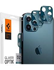Spigen Glas.tR Optik Tempered Glass Camera Lens Protector for iPhone 12 Pro - Pacific Blue 2 Pack