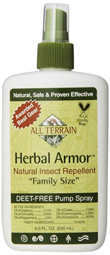 All Terrain, Insect Spray Herbal Armor, 8 Fl - Repellent Herbal Mosquito