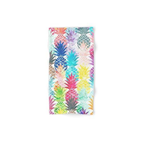 Society6 Hawaiian Pineapple Pattern Tropical Watercolor Set