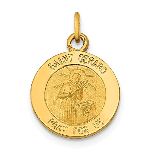 14kt Gold Chain No Medal - 14k Yellow Gold Saint Gerard Medal Pendant Charm Necklace Religious Patron St Fine Jewelry Gifts For Women For Her