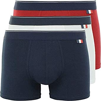 Eminence Lot de 3 Boxers Homme Coton Made in France Bleu