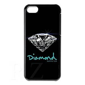diamond supply co HD Phone Case for iPhone 5C Case (Black)