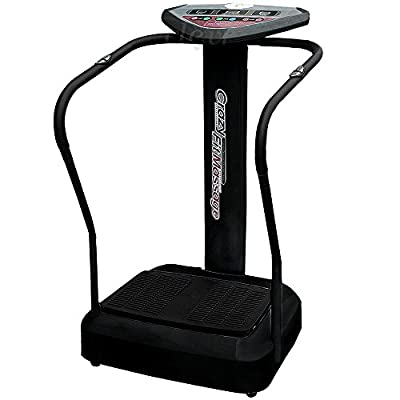 Clevr 1000w/2000w Crazy Fit Full Whole Body Vibration Fitness Massage Machine Platform, Black or Grey Colors