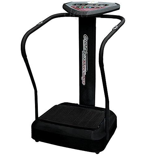 Clevr Pro 1000w Crazy Fit Full Whole Body Vibration Platform Machine Vibe Massage Fitness, Black