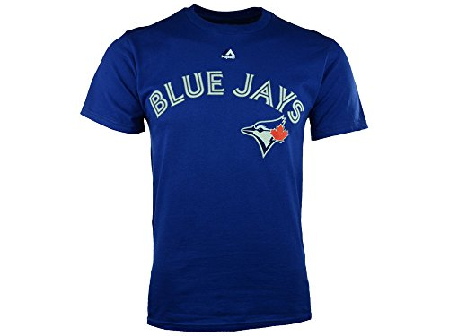fan products of Toronto Blue Jays Majestic MLB Wordmark Men T Shirt Blue S