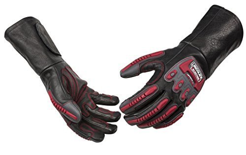 Lincoln Electric Roll Cage Welding/Rigging Gloves | Impact Resistant | Black Grain Leather | Medium | K3109-M