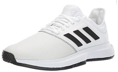 adidas Men's Gamecourt, White/Black/Grey 6.5 M US by adidas (Image #1)