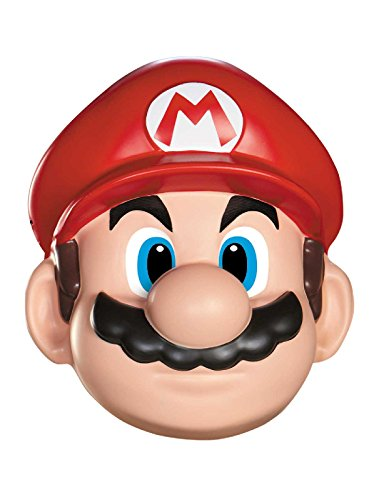 (Disguise Men's Nintendo Super Mario Bros.Mario Adult Mask Costume Accessory, Red/White/Brown, One)