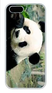 cassette cases panda eating PC White Case for iphone 5/5S