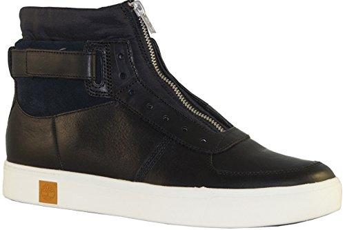 TIMBERLAND A17J9 cordones de zapatos tornado gris marrón hombre de la zapatilla de deporte de la piel lisa negro
