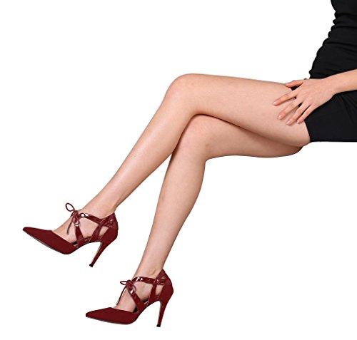 Guoar - Cerrado Mujer - Rotwein Samt