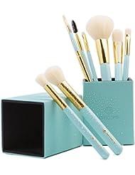 amoore 8 pcs Makeup Brush Set with Makeup Brushes Holder...