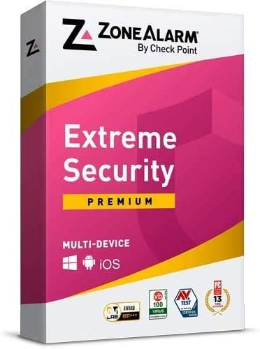 ZoneAlarm Extreme Security Anti-Phishing, Advanced Firewall, Anti-Ransomware, Real-time Antivirus, Mobile Security, 100% Virus-Free, Guaranteed. (3 Devices for 1 Year)
