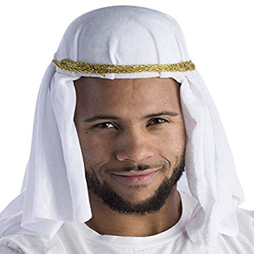 Dress Up America Unisex-Adult's Keffiyeh-Arab Headdress, White, -