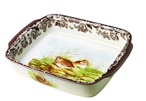 Spode Woodland Rabbit and Quail Rectangular Handled Dish ()
