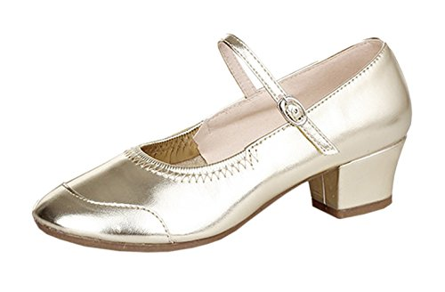 Latin Modern Shoes Indoor Low Golden Dance Heel Swing Performance Jazz Tap Tango Aimire Salsa Beginner Heels Women's Sandals Practice x4wIEqWpnz