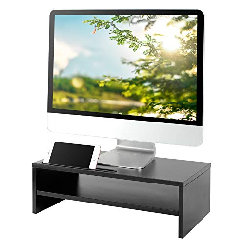 5Rcom Computer Monitor Stand Desk Shelf Riser, Desktop Organizer with Storage,Perfect for Laptops, TVs, Printers, Monitors,2 Tiers Shelves,16.7X9.3inch