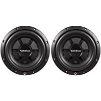 (2) Rockford Fosgate R2SD4-10 10 800 watt Prime R2 Dual 4 Ohm Voice Coil Shallow Subwoofers