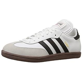 adidas Men's Samba Classic Running Shoe, white/black/white, 8 M US