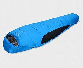 IOL camping Sacos de dormir/acolchada invierno/Outdoor Saco de dormir/algodón Saco de dormir Sacos de dormir, azul: Amazon.es: Deportes y aire libre