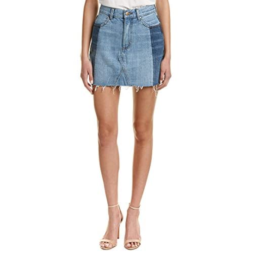 Evident Womens Evidnt Two Block Washed Mini Skirt, 31, Blue