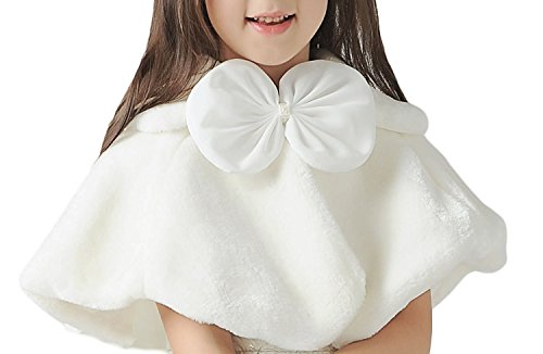 c533725b8620b Peigee(ピーキー) 子供ケープ 子供ドレス ポンチョ ボレロ ファー ボレロ ポンチョ 単品 カーディガン ケープ