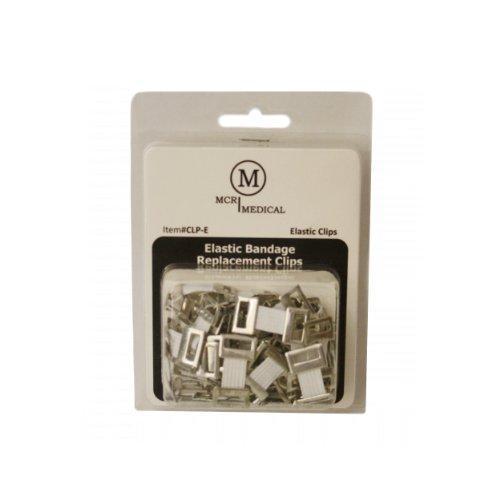 Pack of 50 Elastic Bandage Clips, Elastic Style, MCR Medical
