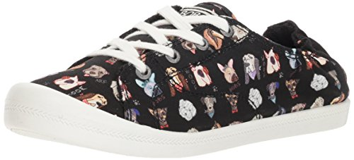 - Skechers BOBS Women's Beach Bingo-Dapper Party Sneaker, Black, 8 M US