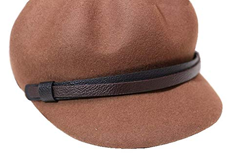 56 Tamaño Gorro Pintor color De Negro Sombrero Mujer Octogonal 1 Gorra M Cinturón Lana Para Oudan Khaki1 Niño Periódico qTpZW