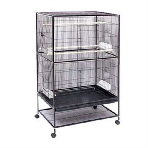 Prevue Hendryx F050 Pet Products Wrought Iron Flight Cage, X-Large, Hammertone Black, My Pet Supplies