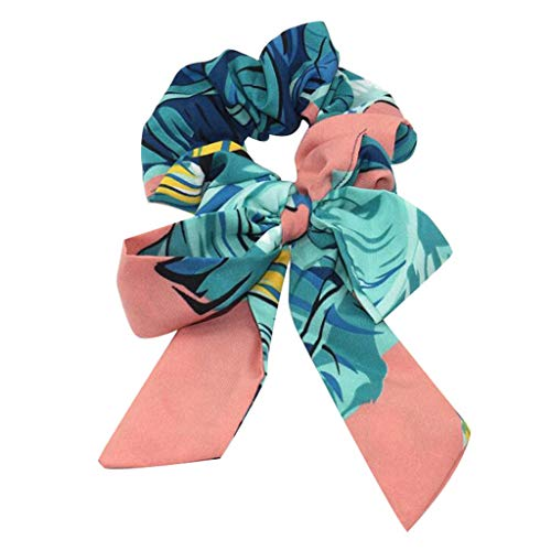 - 〓COOlCCI〓Hair Accessories for Women Girls,Hair Scrunchies Satin Silk Elastic Hair Bands Hair Scarf Ponytail Holder