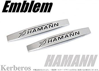 HAMANN エンブレム プレート 2枚セット 両面テープ付 【AK-OT-023】