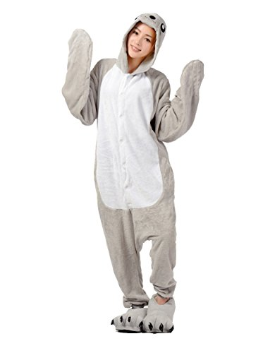 Liangpin Women Halloween Pajamas Onesie Cosplay Costumes Sea Lion M fit for Height 62