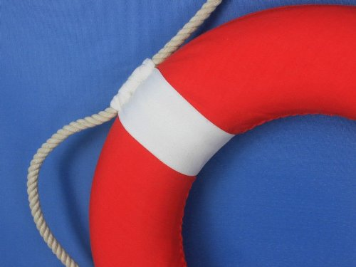 Hampton Nautical Decorative Vibrant Red Lifering with White Bands, 15 inches by Hampton Nautical (Image #7)