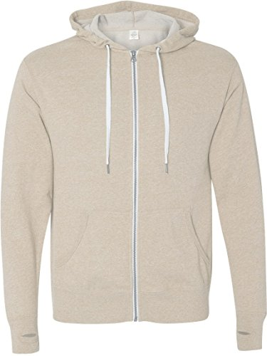 Independent Trading Co Men's Trading Co. French Terry Sweatshirt, Oatmeal Heather, Large