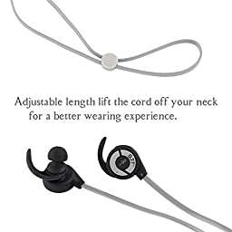 Bluetooth Headphones GJT E10 Wireless Bluetooth V4.1 Headsets Sweatproof Headphones Noise Cancelling Earphones Earbuds with Microphone&Stereo for Sports (Grey)