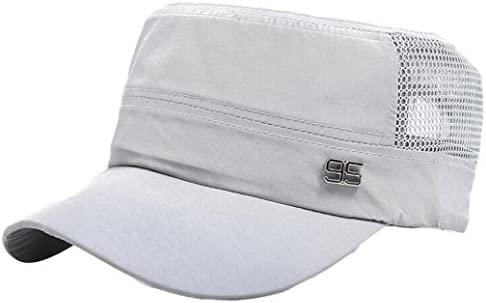 e00bbb6f994 Men s Cadet Army Cap Hat Iuhan Basic Everyday Military Style Hat Outdoor  Plain Vintage Army Military Cadet Style Cap Hat Adjustable for Women Men  (White)
