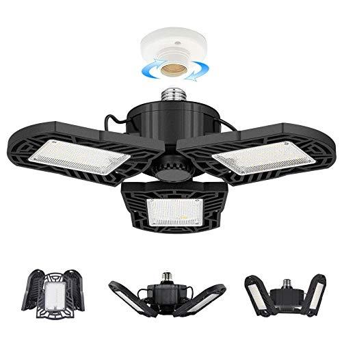 100W LED Garage Lights, Deformable Garage Ceiling Light, 10000 Lumens Ultra-Bright Trilight Lighting with 3 Adjustable…