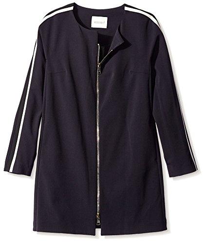 - Beatrice B. Women's Multi Stripe Sleeve Jacket, Black, 10