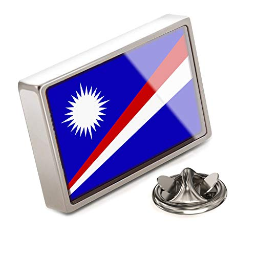 (NEONBLOND Lapel Pin Marshall Islands Flag)