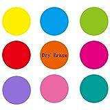 Dry Erase Circle Marker Removable Vinyl Dot Circle Rainbow Set Dry Erase Sticker, Peel and Stick Colorful DIY Wallpaper 9 Pack