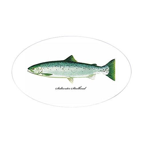 CafePress Wild Saltwater Steelhead Fish Oval Sticker Oval Bumper Sticker, Euro Oval Car Decal