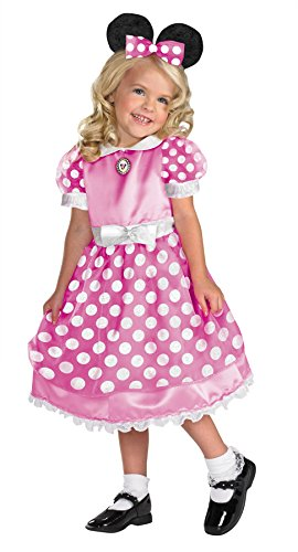 Girls Clubhouse Minnie Pink Kids Child Fancy Dress Party Halloween Costume, Child (Minne Mouse Costumes)