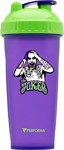 PerfectShaker Performa - Joker Suicide Squad Shaker Bottle, Best Leak Free Bottle with Actionrod Mixing Technology for Your Sports & Fitness Needs! Dishwasher and Shatter Proof (Purple)
