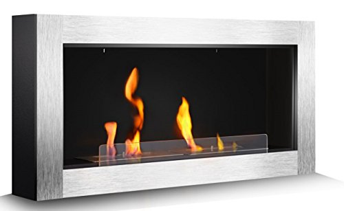 R.W.FLAME 43'' Ventless Bio Ethanol Fireplace Heater,Wall Mounted & Built In Wall Recessed Fireplace - Indoor Gel Fuel Fireplace