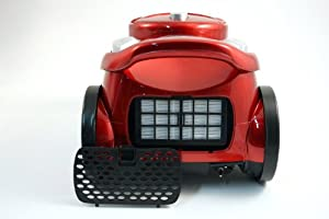 Necchi NHR9002 aspirador - Aspiradora (2400W, 300W, Cilindro, Metal, Rojo, HEPA): Amazon.es: Hogar