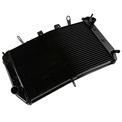 New Motor Black Aluminum Radiator Cooler For YAMAHA FAZER 800 FZ8 2011-2013 2012 (Air Cooled Shroud)