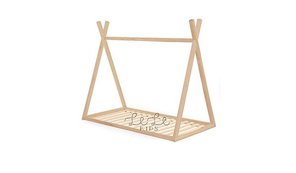 Cama Infantil Montessori, Tipi - Teepee de Madera para niño y ...
