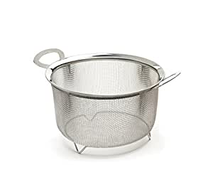 RSVP Endurance Stainless Steel Wide Rim 8-inch Mesh Basket, 3-Quart capacity